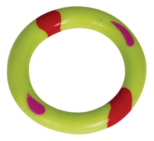 Жевательная игрушка для собак Triol Кольцо из резины, зеленое, 6 см