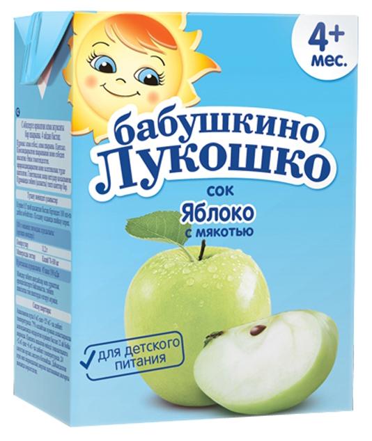 Купить Яблоко 200 мл, Сок Бабушкино Лукошко Яблоко c 4 месяцев 200 мл, Детские напитки