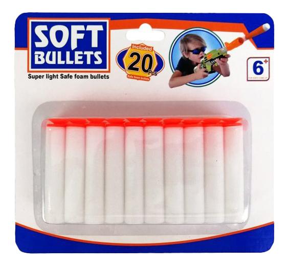 Мягкие пули с присосками 20 шт Shantou Gepai SPA942950C, Мягкие пули с присосками 20 шт.