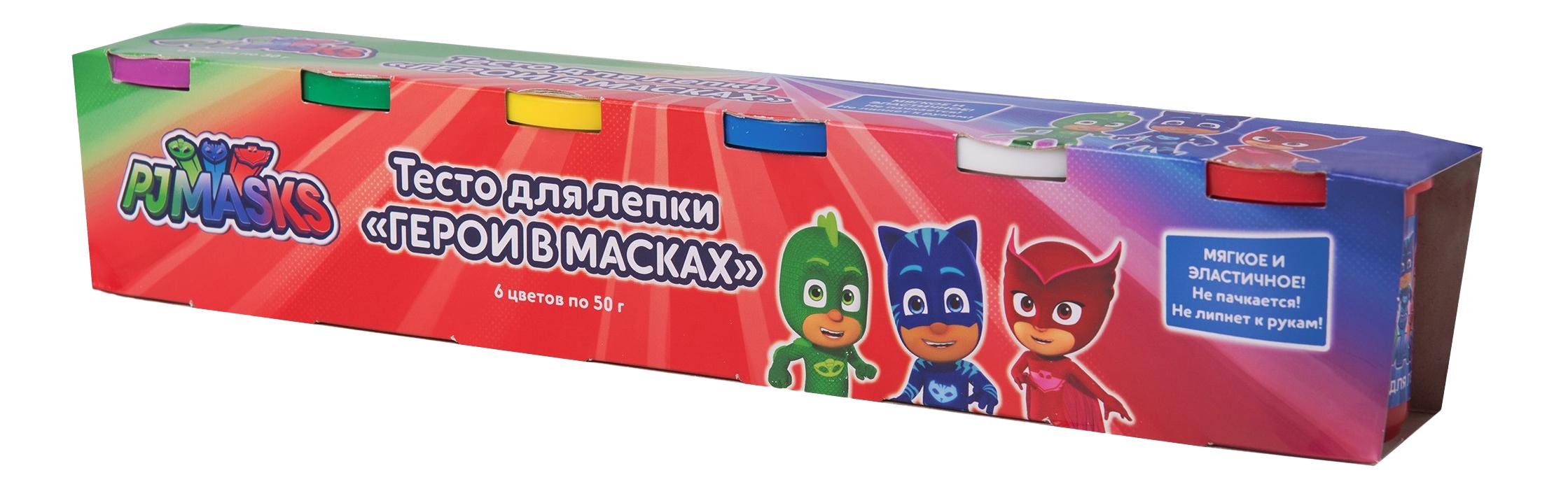 Паста для лепки PJ Masks 6 цветов, Росмэн, Лепка  - купить со скидкой