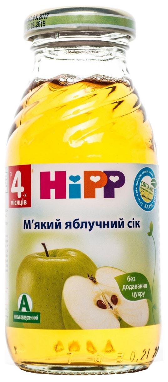 Сок Hipp Яблочный б/с с 4