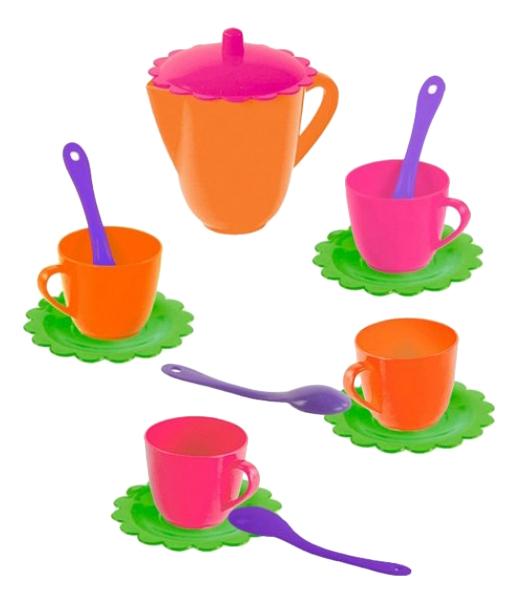 Купить Чайный набор цветок, Чайный набор игрушечной посуды Цветок 14 предметов Mary Poppins 39327, Игрушечная посуда