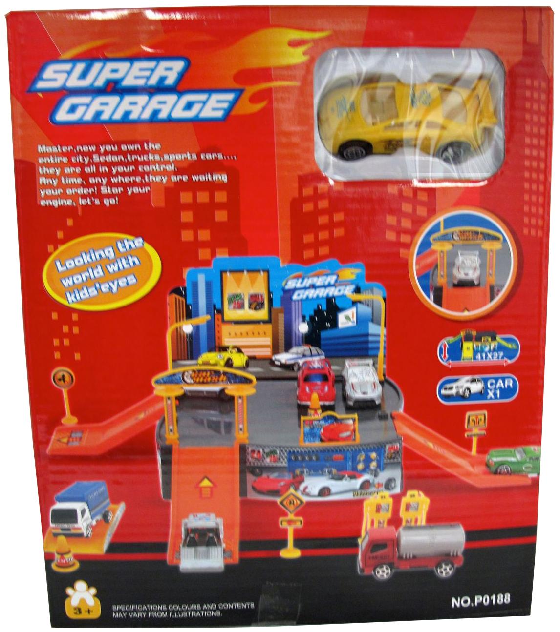 Парковка игрушечная Gratwest Игровой набор super garage