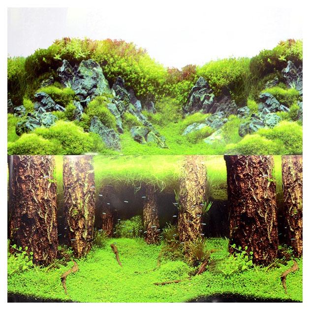 Фон для аквариума Laguna Затонувшие стволы/Изумрудные скалы 722 г размер 40х1500 см фото
