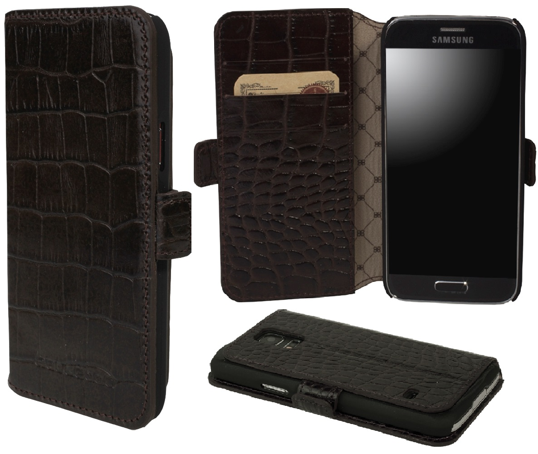 Чехол кожаный Bouletta книжка (Портмоне) для Samsung Galaxy S5 Mini, Коричневый-K2