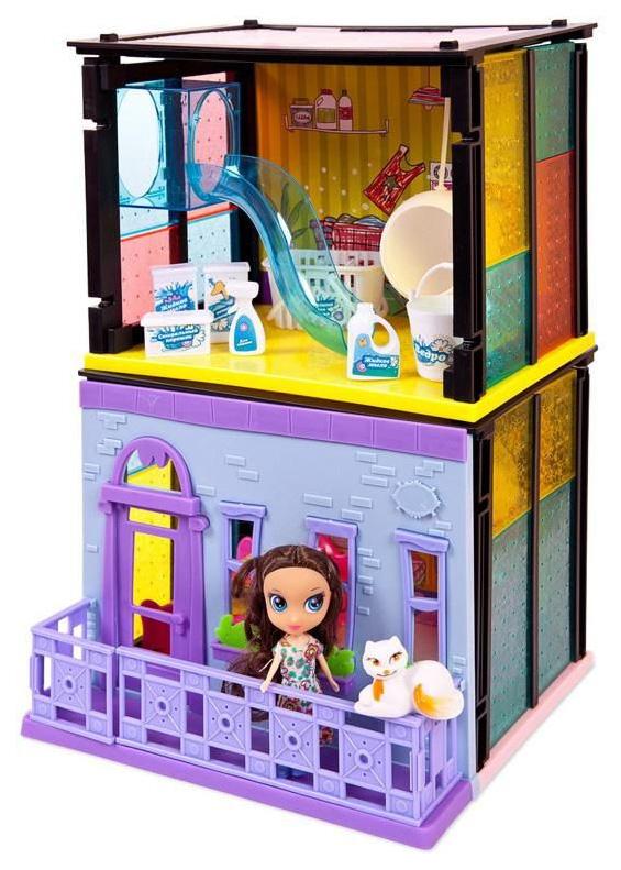Модный дом ABtoys 2 в 1 в наборе с куклой и мебельюPT-00853 180 деталей