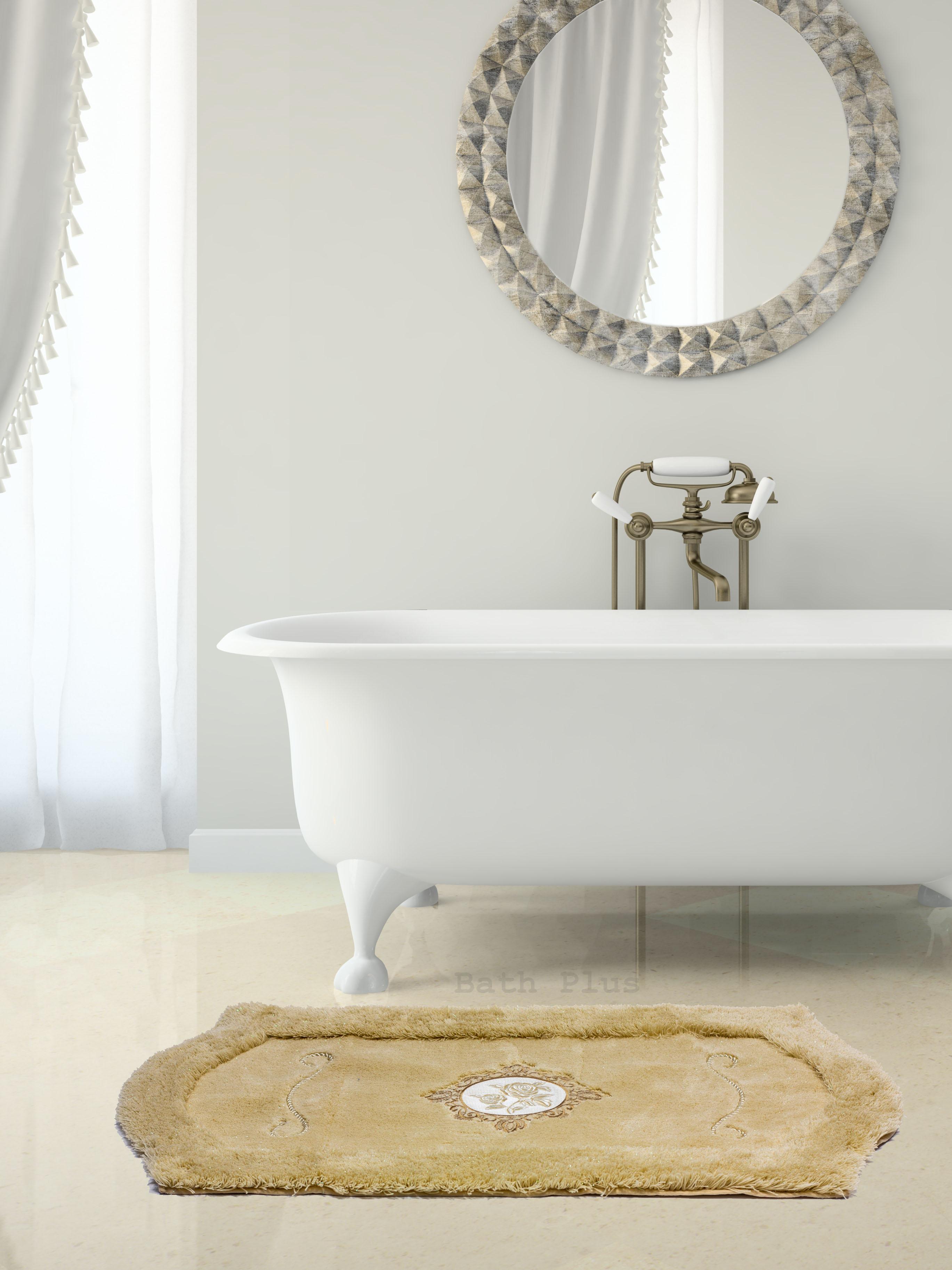 Ковер для ванной 60х100(бежевый) Royal акрил