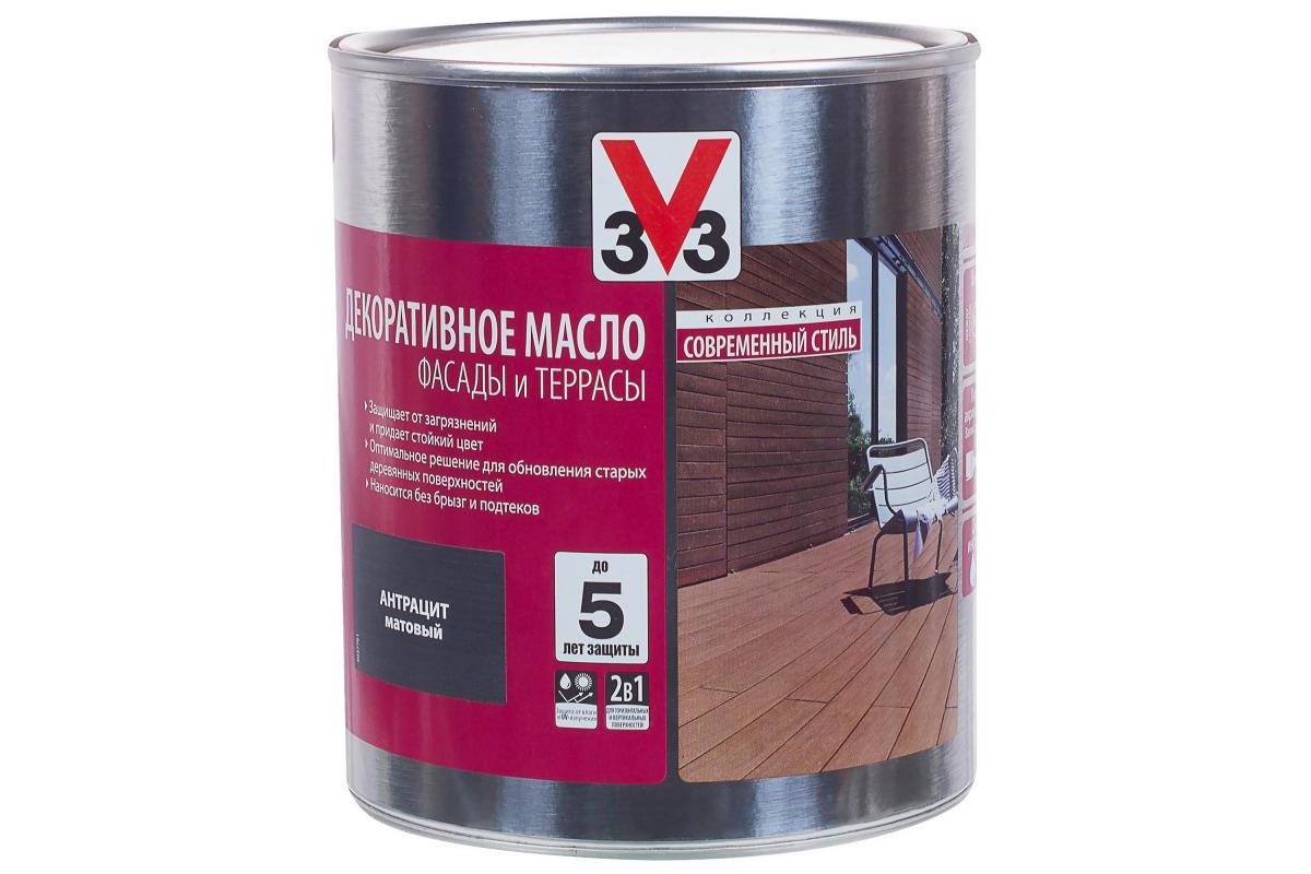 Декоративное масло 3V3 для деревянных фасадов