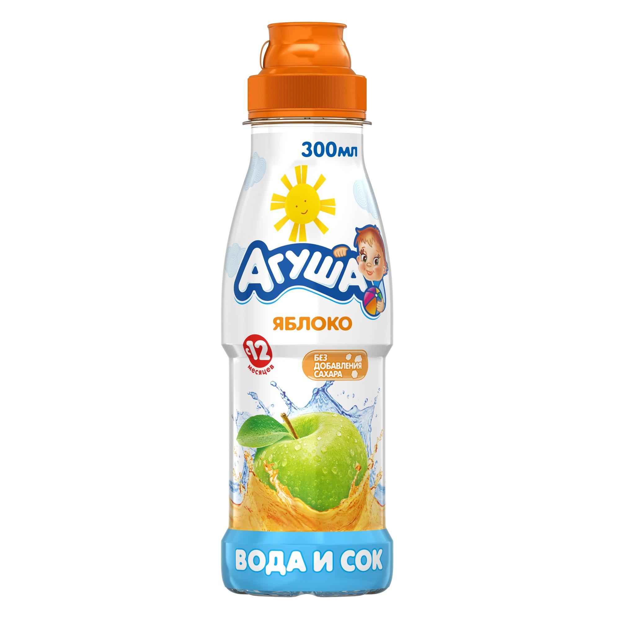 Вода и Сок Агуша Яблоко с
