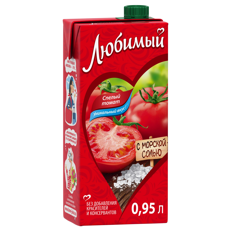 Нектар спелый томат Любимый с морской солью 0.95 л фото