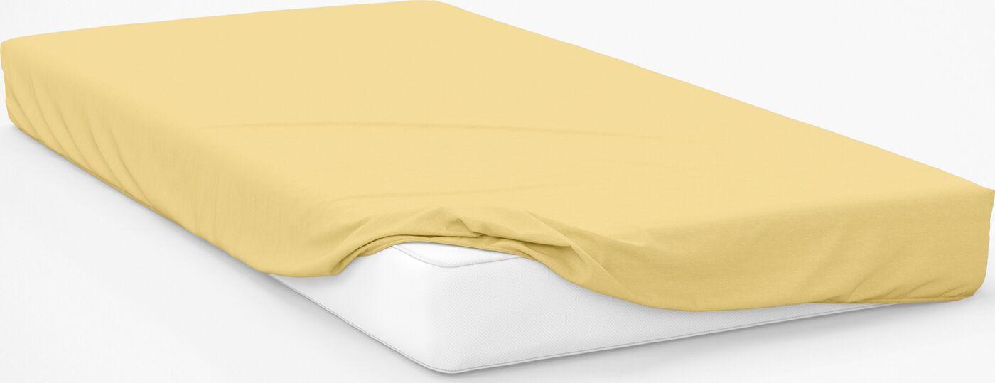 Простыня на резинке Amore Mio Трикотаж 1,5 спальная Желтый