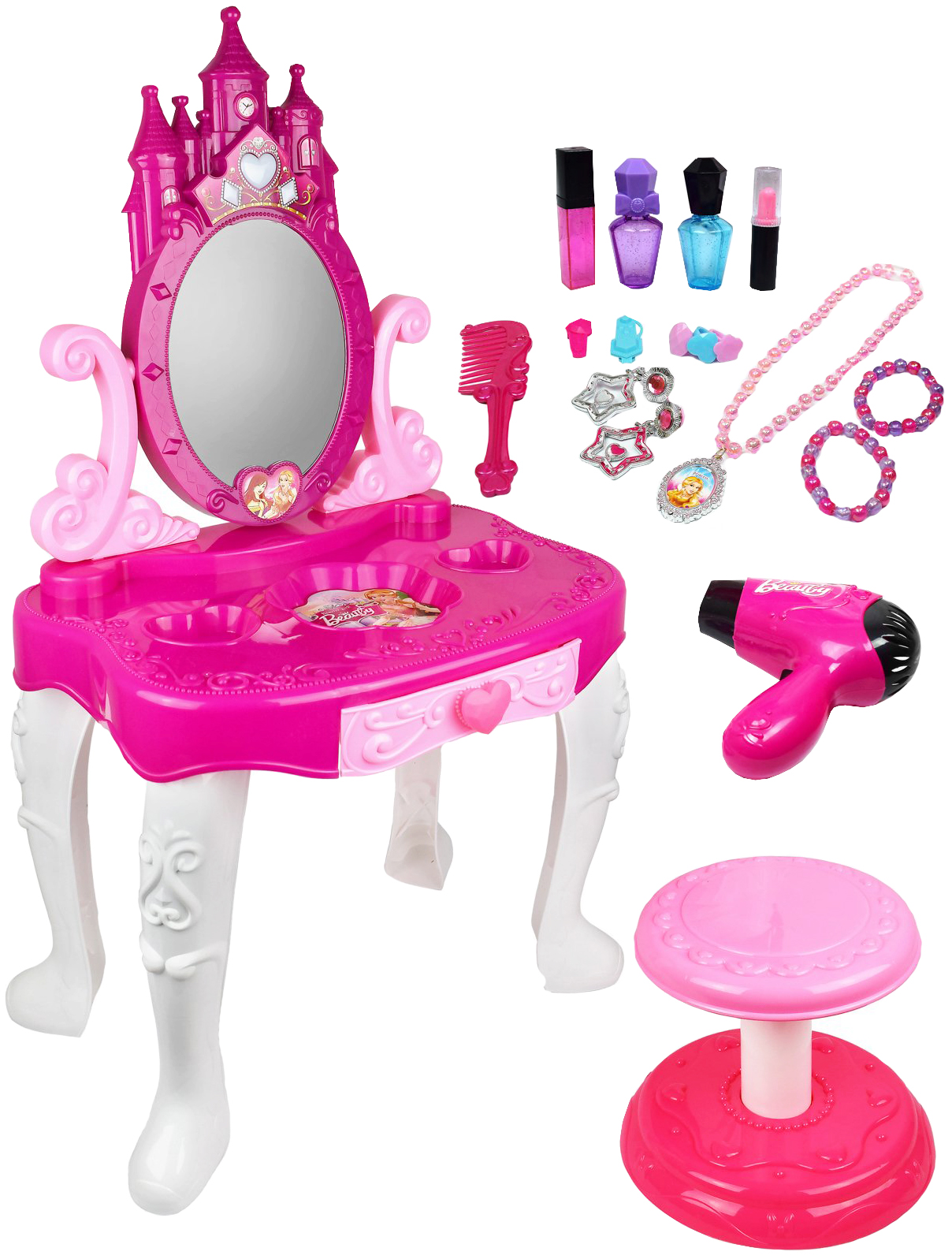 Купить Детское трюмо с зеркалом Beauty - Always Fashion (свет, звук), Meihongyu Toys, Игрушечные туалетные столики