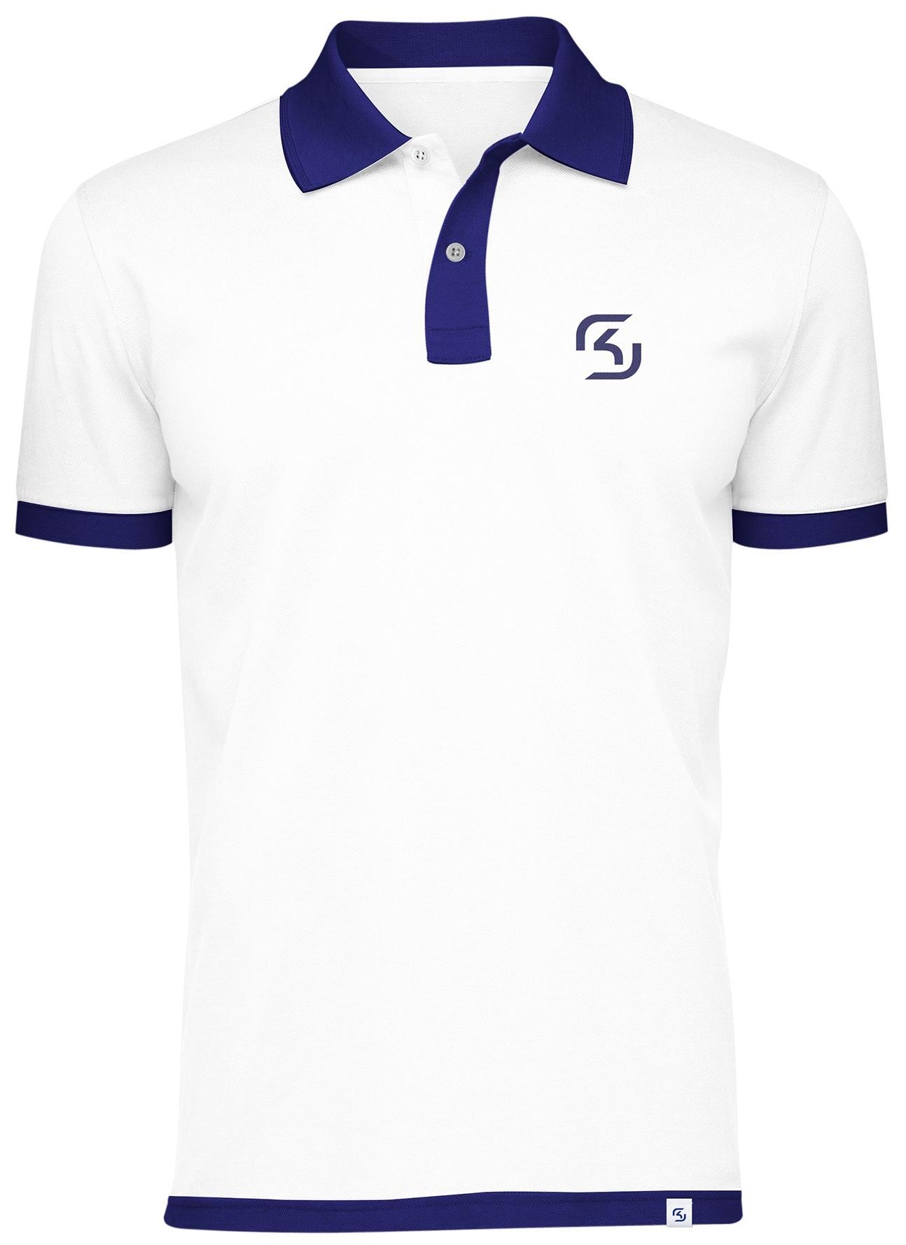 Поло SK Gaming Polo Shirt White (M)