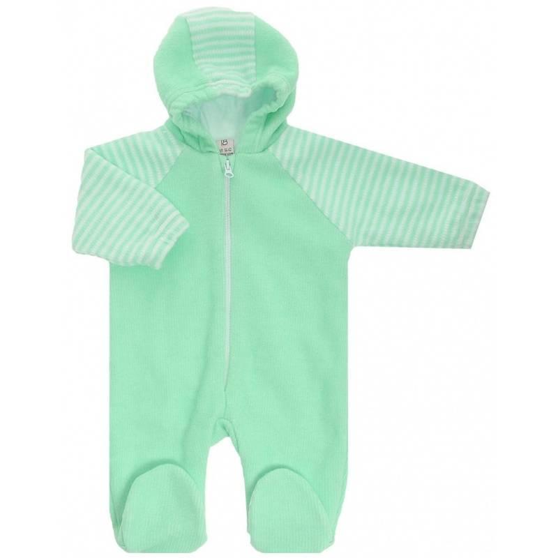 Купить 4-13 ЗЕЛЕНЫЙ, Комбинезон Lucky Child, цв. зеленый, 80 р-р, Трикотажные комбинезоны для новорожденных