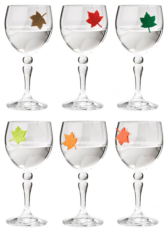 Набор маркеров для бокалов Qualy Leaf My Glass 6 шт