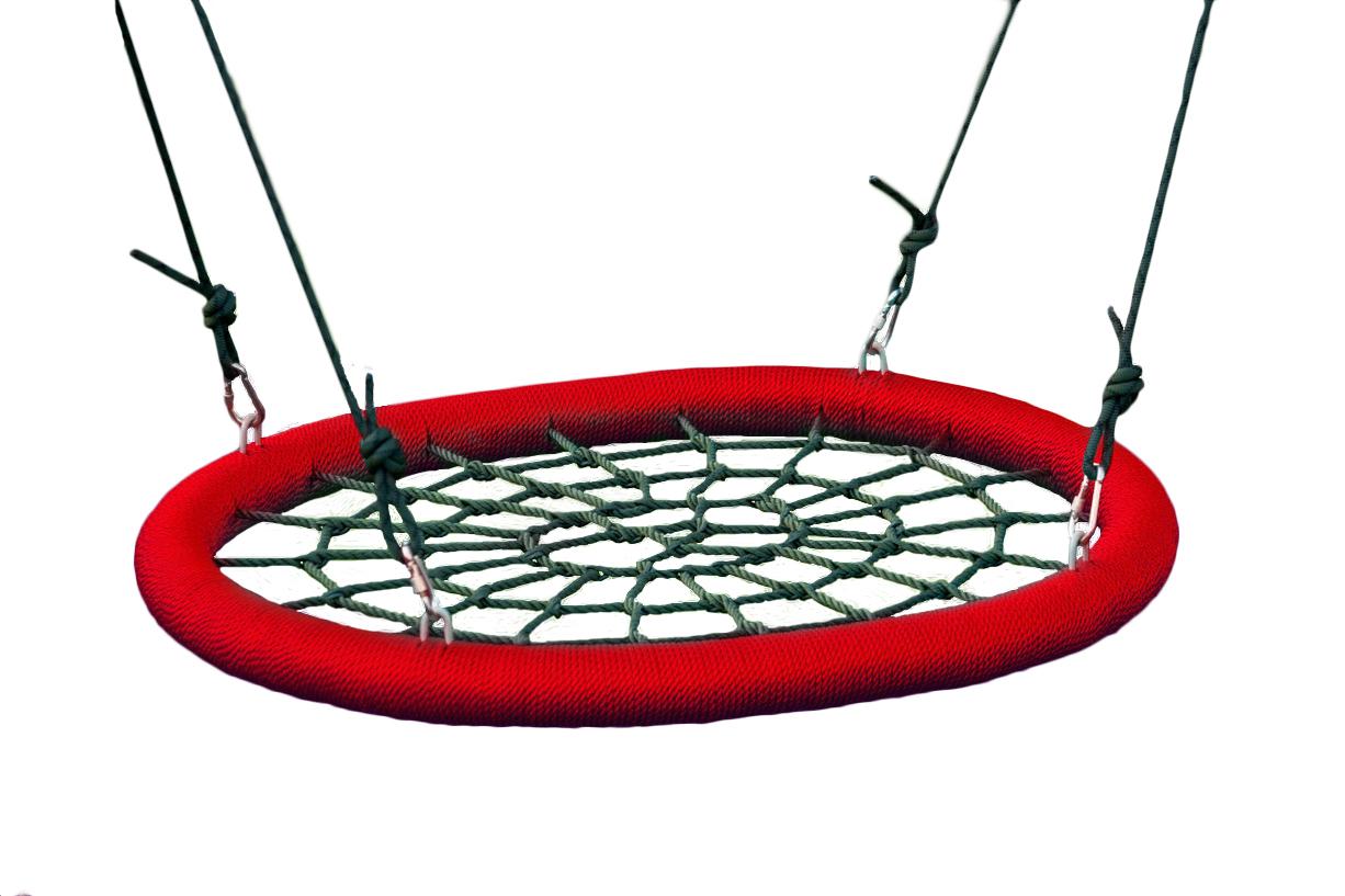 Подвесные садовые качели для дачи Облачный замок Качели гнездо 85х110 см Красный