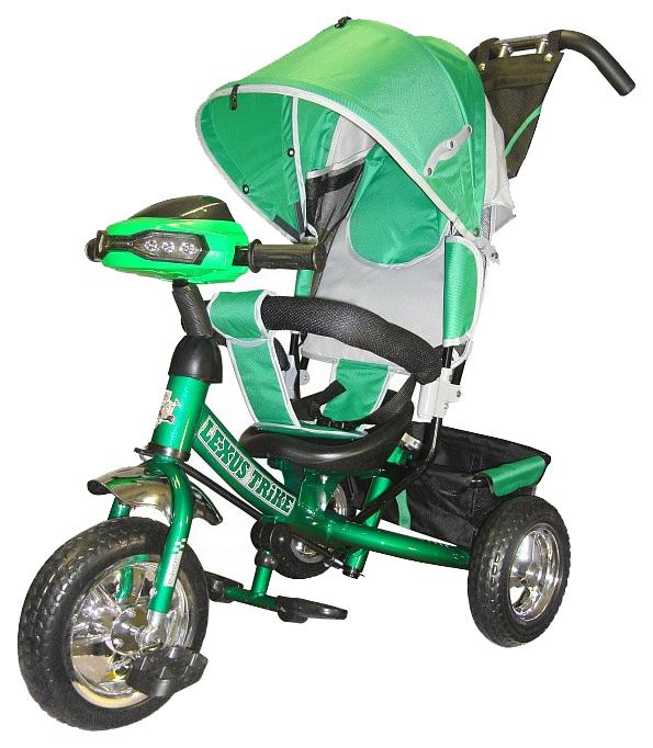 Трехколесный велосипед Funny Jaguar Lexus Racer Trike с музыкальной панелью зеленый