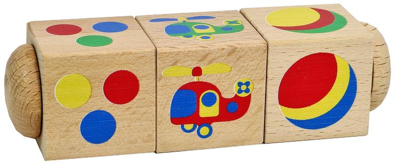 Развивающая игрушка Десятое Королевство Кубики деревянные