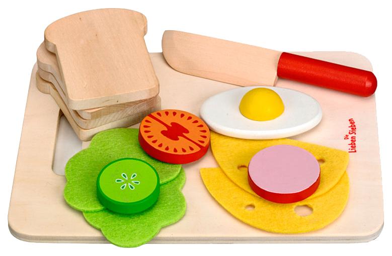Купить Игровой набор для завтрака Ди Либен Зибен. Die Lieben Sieben , Spiegelburg, Игрушечные продукты