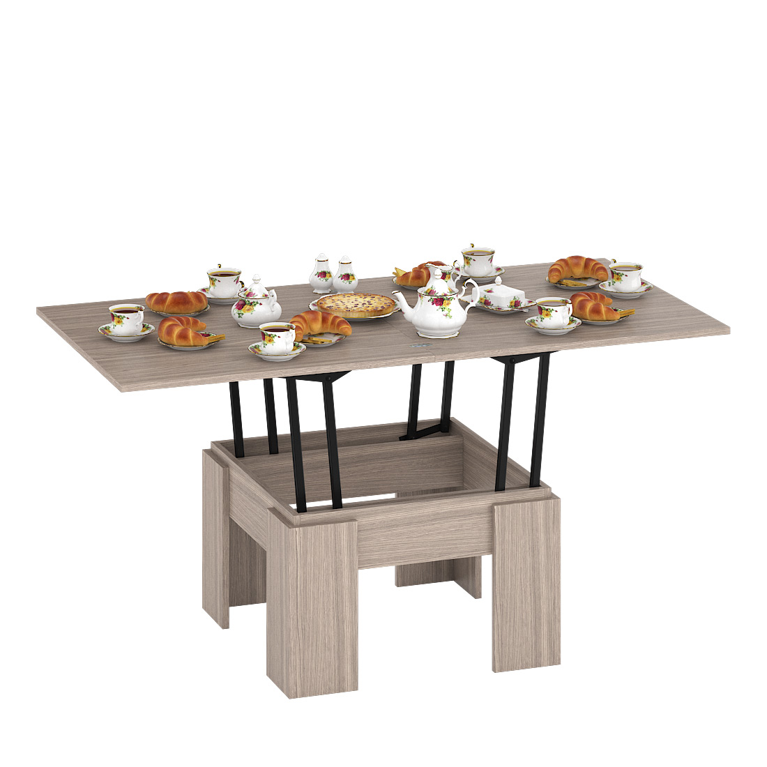 Журнальный столик Delice Бета 1668003 80(160)х80х47,5(81,5)