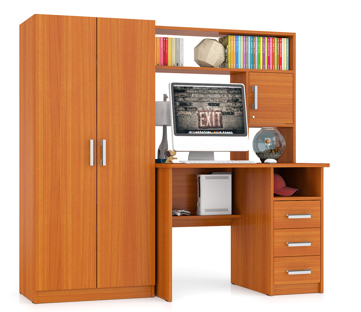 Компьютерный стол Мебельный Двор СК 9, вишня