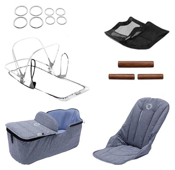 Купить Комплект Bugaboo Fox (Бугабу Фокс) стильный style set BLUE MELANGE 230255BM01, Комплектующие для колясок