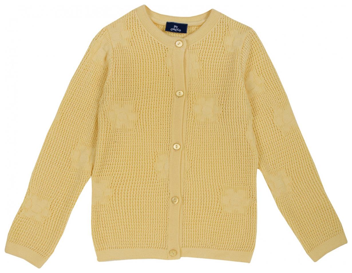 Купить 101422-M, Кардиган Chicco р.110 цвет жёлтый,