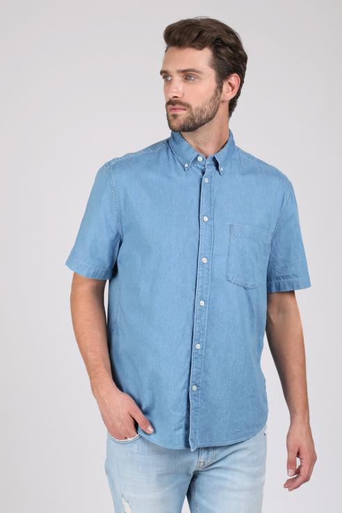 Рубашка мужская Tom Farr T M2420.33 голубая M