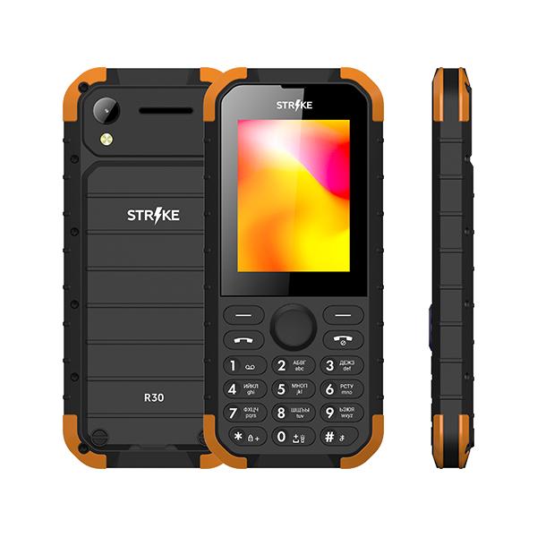 Мобильный телефон STRIKE R30 Black/Orange