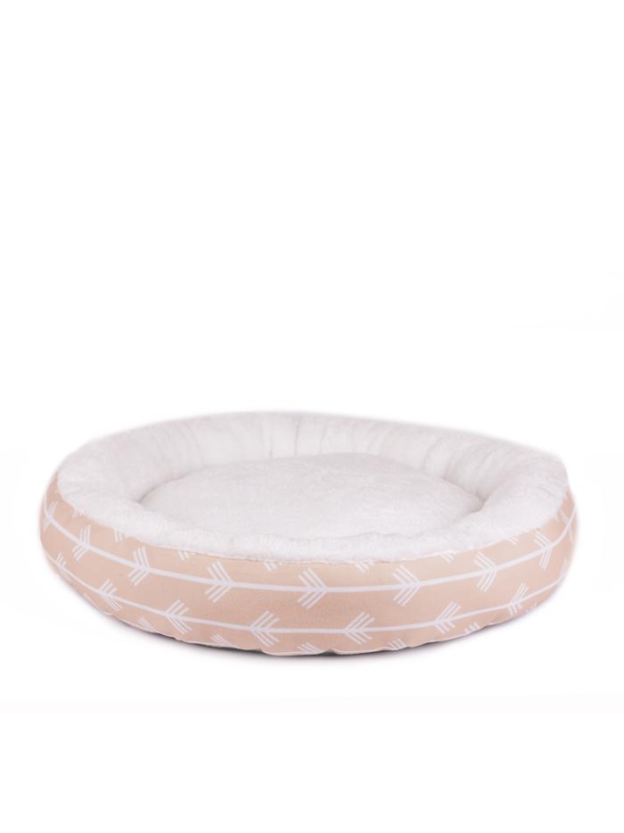 Лежанка для домашних животных Не Один Дома Облако для сна, светло-розовая, S, 53х53х10 см фото