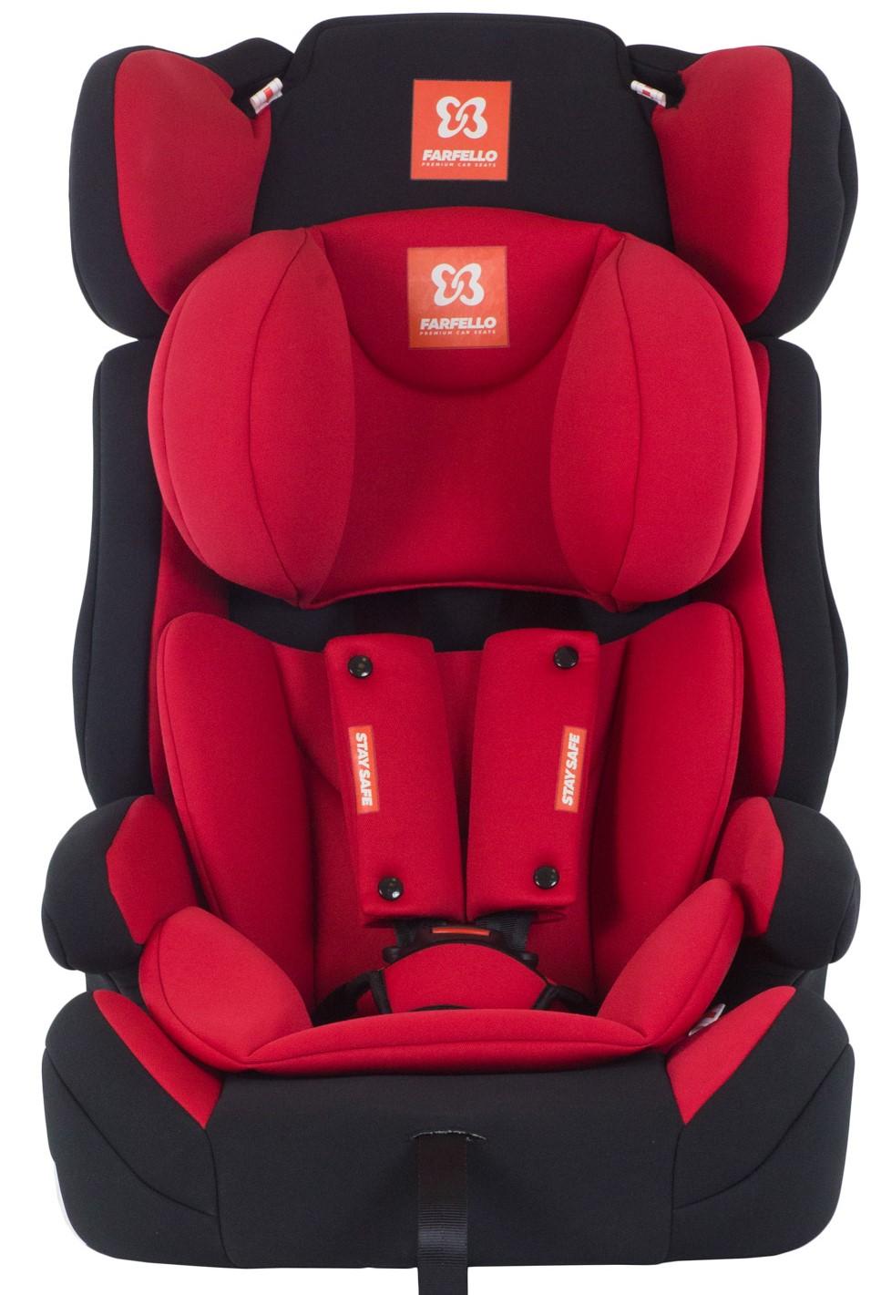 Автокресло детское Farfello, цв. красно-черный GE-E 7