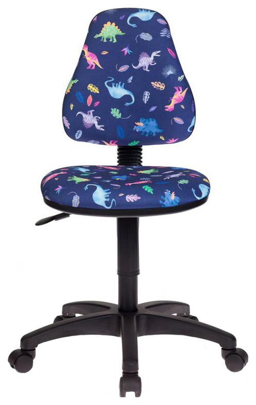 Купить Детское компьютерное кресло Бюрократ KD-4/DINO-BL Синий, Детские стульчики