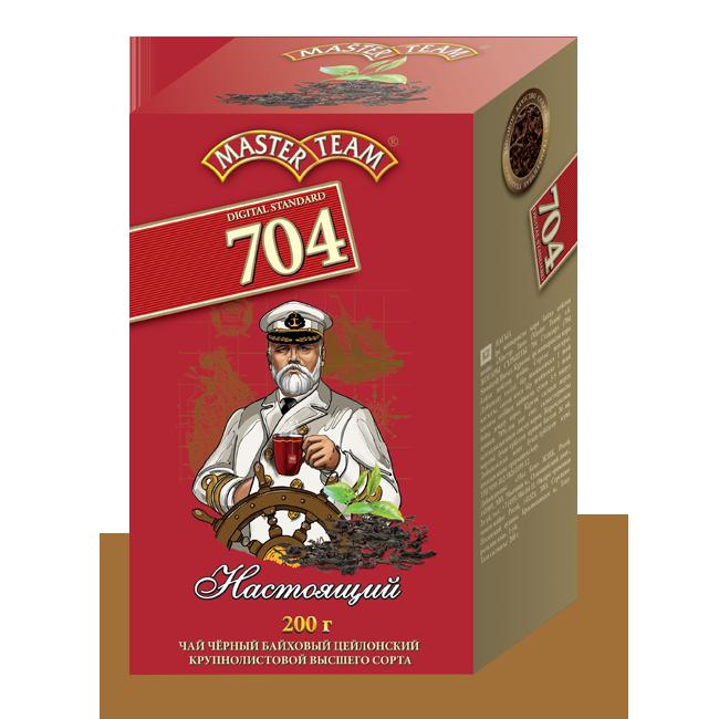 Чай черный Master Team 704 настоящий байховый цейлонский крупнолистовой 200 г