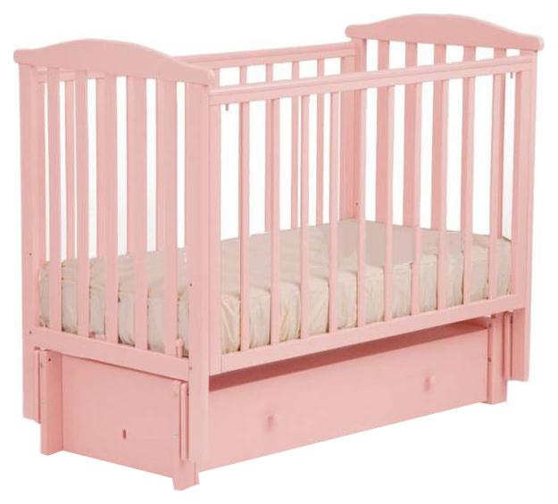 Купить Детская кровать Лель Лютик АБ 15.3, Розовый, Классические кроватки