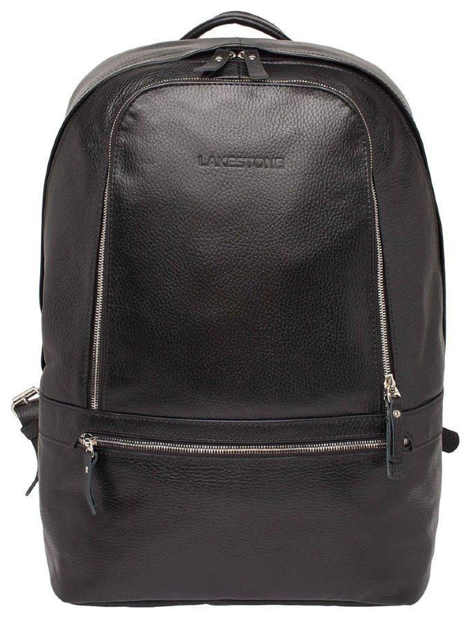 Рюкзак кожаный Lakestone Timber черный 15 л