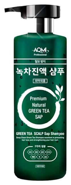 Шампунь AOMI Green Tea Leaf Extract 500 мл