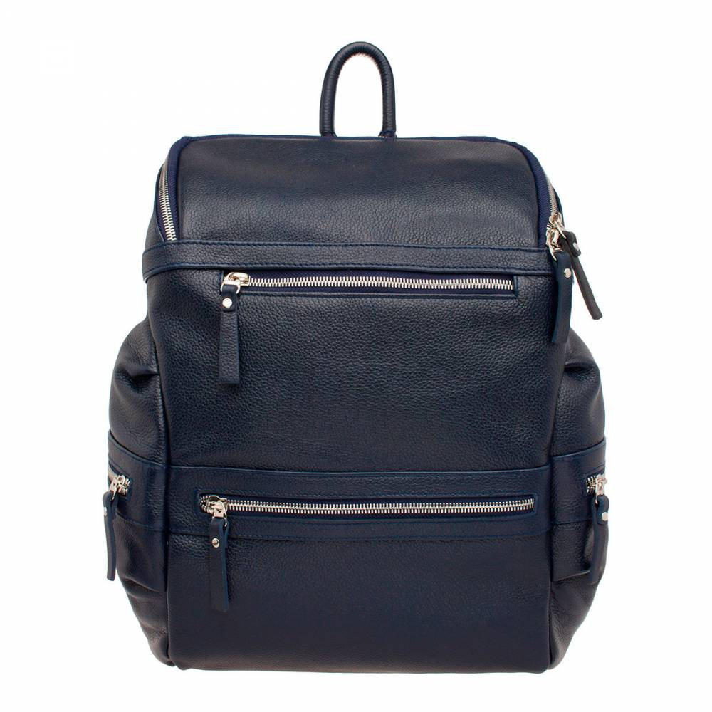 Рюкзак кожаный Lakestone 91244 синий 14 л фото