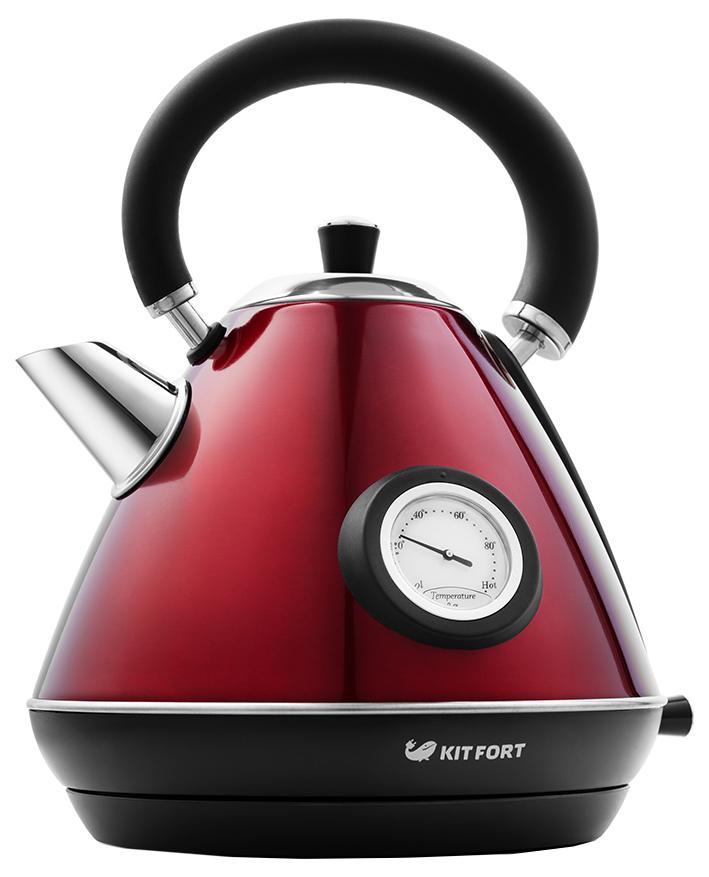 Чайник электрический Kitfort КТ-644-3 Black/Red фото