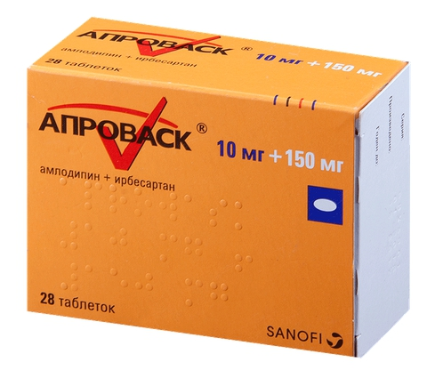 Апроваск таблетки 10 мг+150 мг 28 шт.