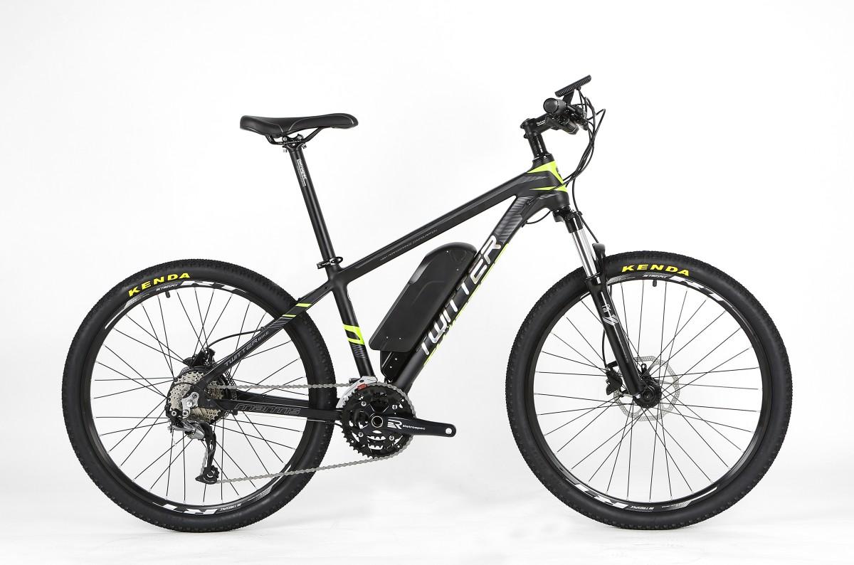 Электровелосипед Twitter Mantis-E1-17 черно-красный