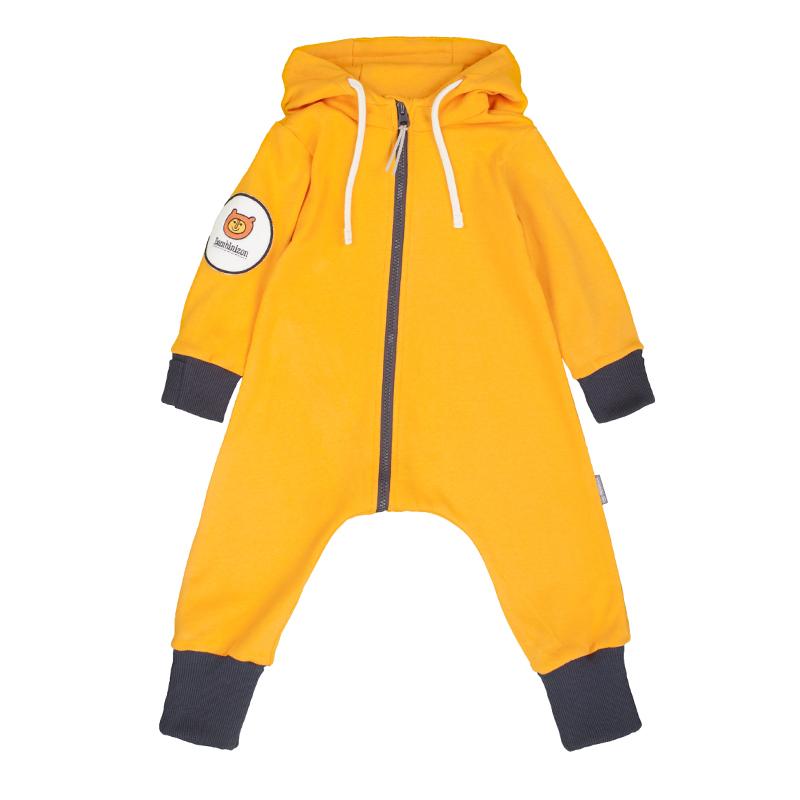 Купить Комбинезон Bambinizon из футера Огненный апельсин ТКМ-ОА р.62, Слипы и комбинезоны для новорожденных