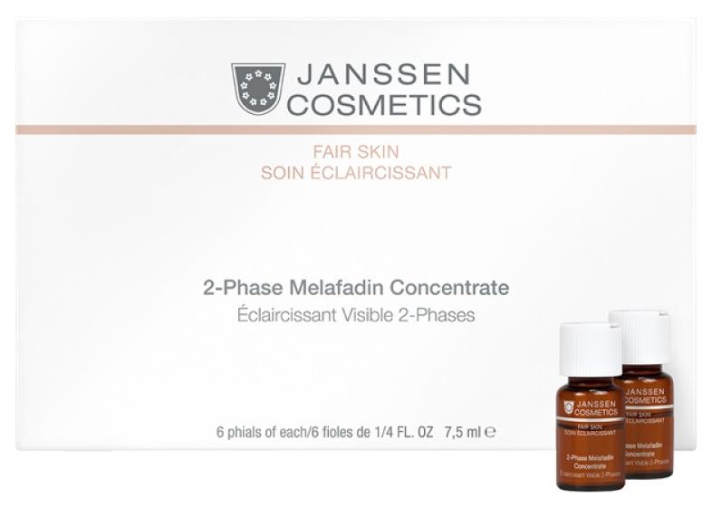 Сыворотка для лица Janssen Cosmetics Fair Skin 2-Phase Melafadin Concentrate 6*7,5 мл