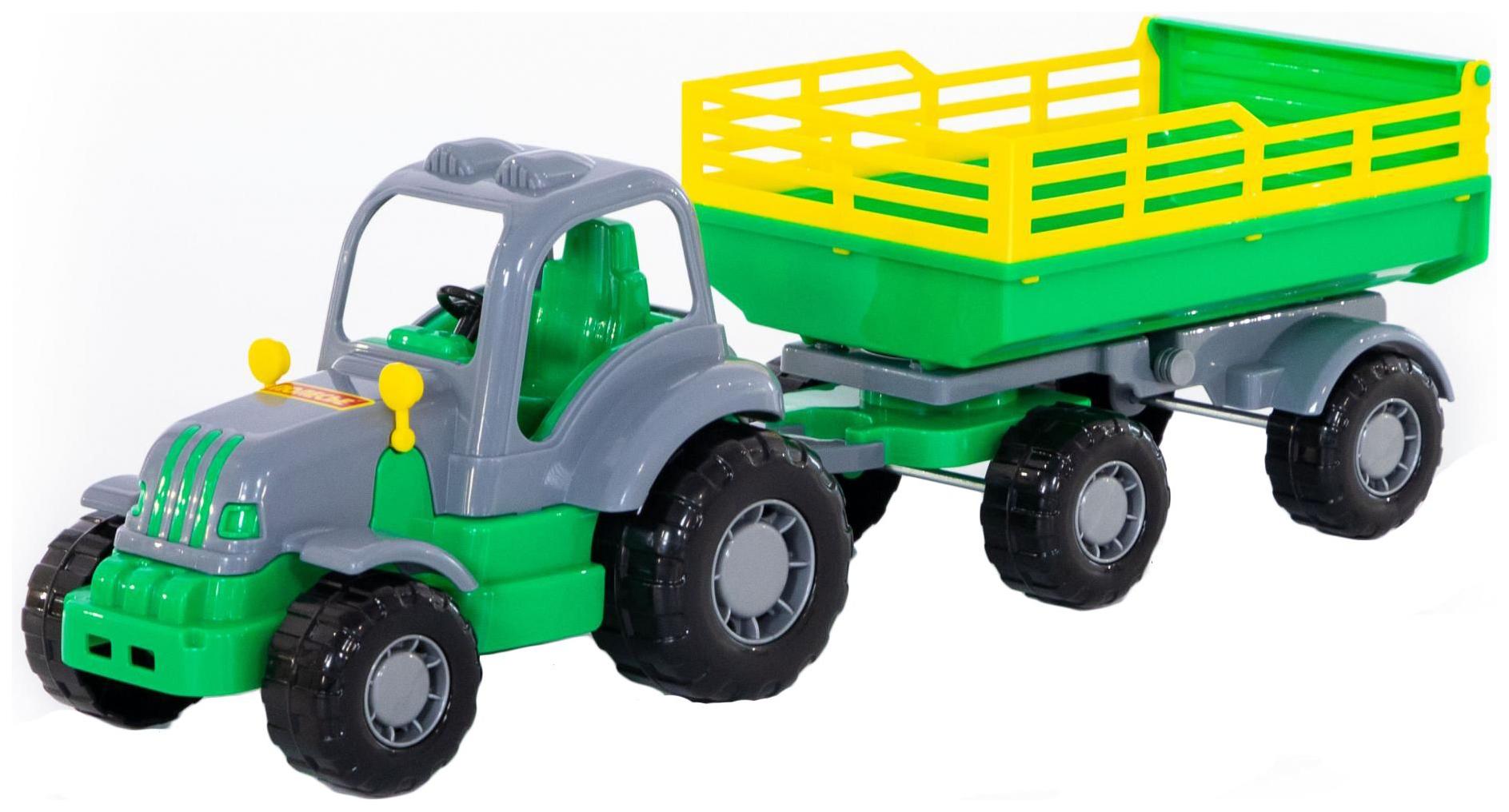 Развивающая игрушка Полесье Крепыш Трактор с прицепом №2