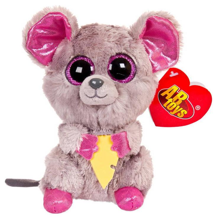 Купить Мягкая игрушка ABtoys Мышка серая, 15 см, Мягкие игрушки животные