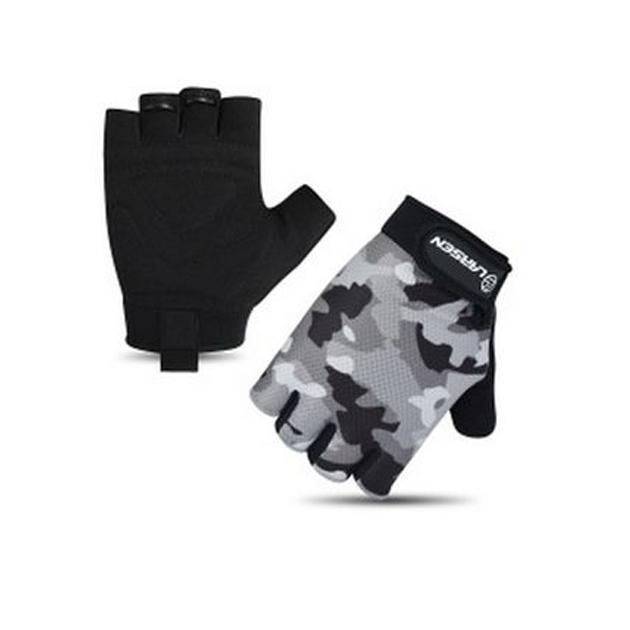 Перчатки для фитнеса Larsen 16 8348 черно серые