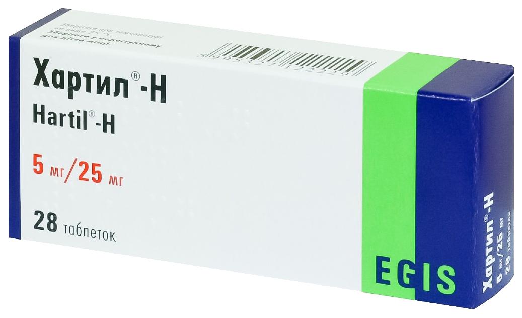 Хартил-Д таблетки 5 мг+25 мг 28 шт.