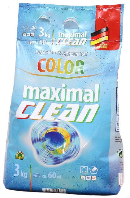 Стиральный порошок Maximal Clean сolor для цветных тканей 3 кг