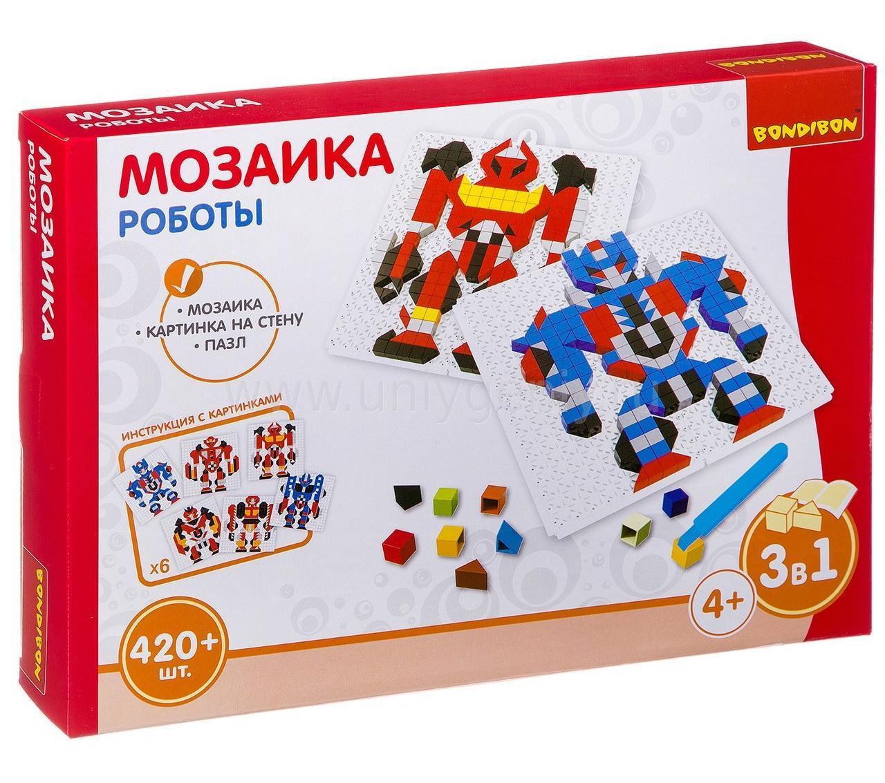 Мозаика Colorplast Bondibon Роботы 420 деталей