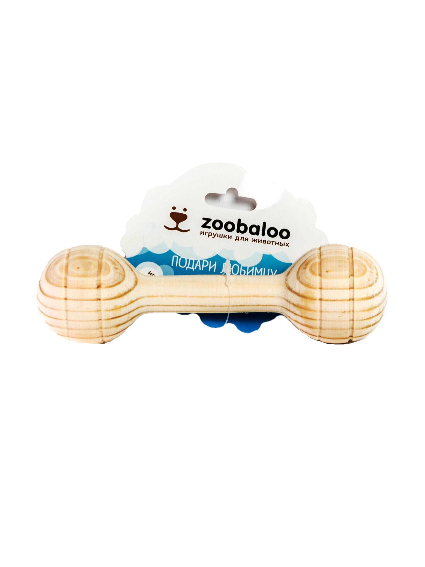 Игрушка для собак Апорт Zoobaloo Деревянная кость,
