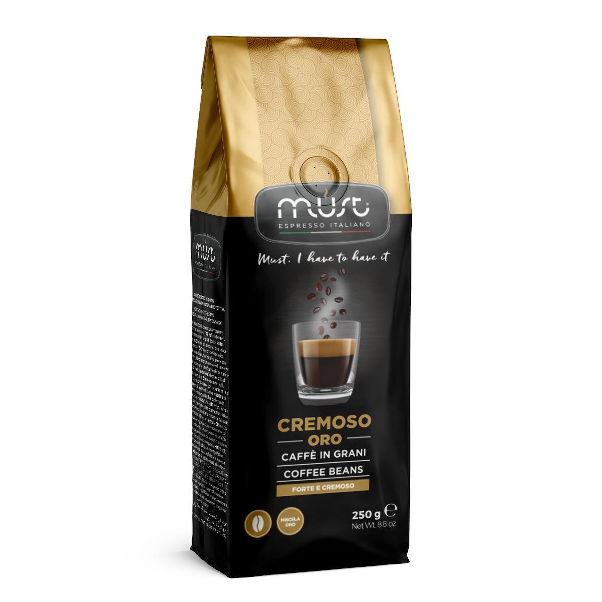 Кофе в зернах Must cremoso oro 250 г